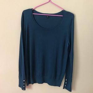 ❤️Ann Taylor Aqua Blue Wool Scoop Neck Sweater❤️